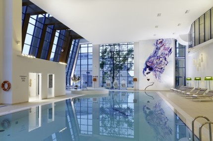 eforea Spa At Hilton - Indoor Pool: Unwind by swimming laps in the indoor pool of the first eforea spa at Hilton in Eastern Europe.